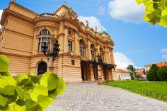 View of Juliusz Slowacki Theatre in Krakow Royalty Free Stock Photos