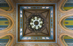 View of Jumeirah Grand Mosque dome interior in Dubai, UAE. Stock Photography