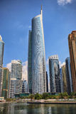 View of Jumeirah Lakes Towers skyscrapers. Dubai, UAE Stock Images