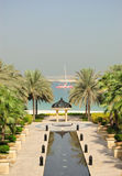 View on Jumeirah Palm from luxurious hotel Stock Images