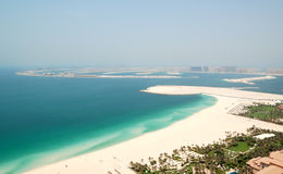 View on Jumeirah Palm man-made island Stock Photography