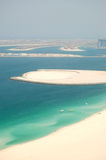 View on Jumeirah Palm man-made island Stock Images
