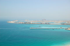 View on Jumeirah Palm man-made island Royalty Free Stock Photography