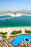 View on Jumeirah Palm man-made island Stock Photos