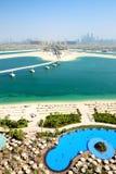 View on Jumeirah Palm man-made island Stock Photos