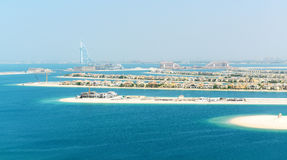 View on Jumeirah Palm man-made island Stock Photo