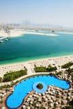 View on Jumeirah Palm man-made island Stock Image