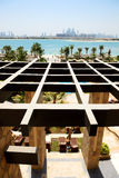 The view on Jumeirah Palm man-made island from luxury hotel Royalty Free Stock Photos