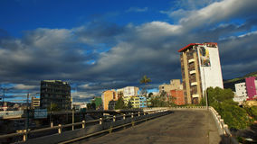 View of the junction of the avenues 10 de Agosto, Francisco de Orellana and Eloy Alfaro in the north zone of the city of Quito Stock Photos