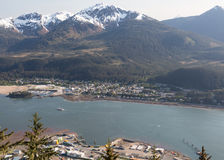 View of Juneau. View of Gastineau Channel near Juneau, Alaska Stock Images
