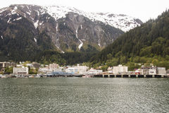 View of Juneau from the Sea Royalty Free Stock Image