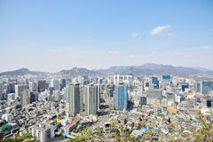View of Jung-gu from Namsan Stock Photos