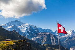 View of Jungfrau from Mannlichen Royalty Free Stock Image