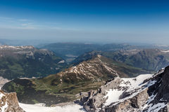 View from Jungfrau mountain, Switzerland Royalty Free Stock Image