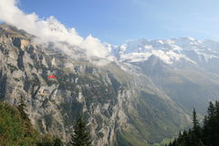 View of Jungfrau from Murren Switzerland Royalty Free Stock Photography
