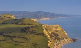 View of Jurassic Coast. Landscape view showing the cliffs of the Jurassic Coast Royalty Free Stock Image