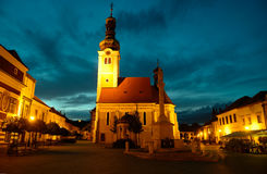 View of Jurisics ter in Koszeg. Royalty Free Stock Photography