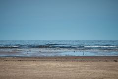 Summer Jurmala beach . View on Jurmala beach and sea in summertime royalty free stock images