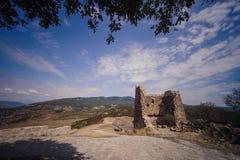 View from Jvari Church in Mtskheta royalty free stock image