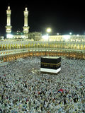 View of Kaaba. Mecca, Saudi Arabia. - November 6, 2009 ; A beautiful view of Kaaba from top of Masjidil Haram Stock Photo