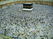 View of Kaabah. royalty free stock photography