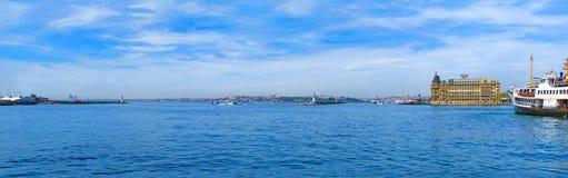 View from Kadıkoy on Haydarpasa Terminal Royalty Free Stock Image