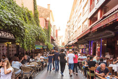 View of Kadikoy Popular streets. Where People love walking and visiting.Kadikoy is one of largest popular and cosmopolitan districts of Istanbul. TURKEY Stock Images