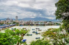 View of the Kai River, fishing boats Royalty Free Stock Images