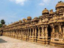 View of Kailasanathar Temple in Kanchipuram, India. Kanchipuram, India - Circa January, 2018. View of Kailasanathar Temple in Kanchipuram, India royalty free stock photography