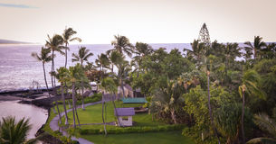 View of Kailua-Kona Bay from King Kamehameha Kona Beach Inn. These are photos near Kailua-Kona Bay from King Kamehameha Kona Beach Inn, in Hawaii Stock Photos