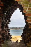 View from Kalø - old wall Royalty Free Stock Photos