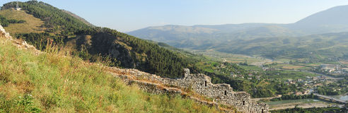 View from Kala fortless over Berat Stock Photo