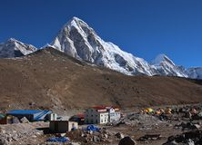 View of Kala Patthar, travel destination in the Everest National Park Royalty Free Stock Photo