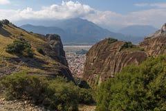 View on Kalabaka town at Meteora Royalty Free Stock Image
