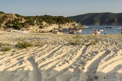 View of Kalamitsi Beach, Chalkidiki,  Sithonia, Central Macedonia. Greece Stock Images