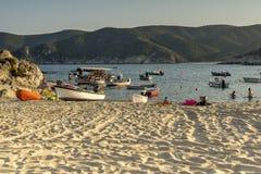 View of Kalamitsi Beach, Chalkidiki,  Sithonia, Central Macedonia Royalty Free Stock Images
