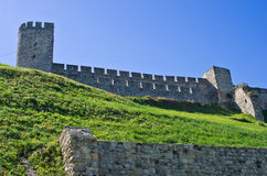 A view at Kalemegdan fortress from below, Belgrade Stock Photo