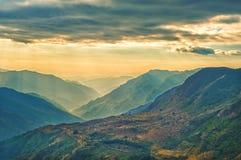 View from kalinchok Photeng towards the Kathmandu valley Stock Images