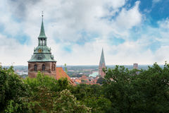 View from the Kalkberg over Lueneburg, Germany Stock Photo