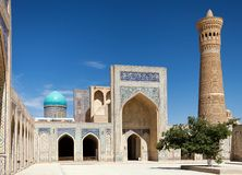 View of Kalon mosque - Bukhara - Uzbekistan Stock Photos