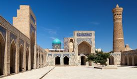 View of Kalon mosque and minaret - Bukhara Royalty Free Stock Image