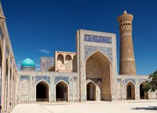 View of Kalon mosque and minaret - Bukhara Stock Photography