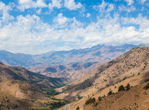 View from Kamchik (Qamchiq) mountain pass, Uzbekistan. Stock Image