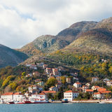 View of Kamenari town. Montenegro Royalty Free Stock Images