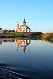 View of Kamenka river and orthodox church in Suzdal. Russia Royalty Free Stock Photography
