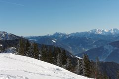 A view from Kampenwand mountain Royalty Free Stock Photography