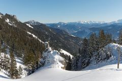 A view from Kampenwand mountain Royalty Free Stock Image