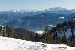 A view from Kampenwand mountain Royalty Free Stock Photo