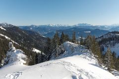 A view from Kampenwand mountain Stock Photography
