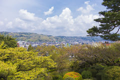 View of Kanazawa from Kenroku-en gardens Stock Images